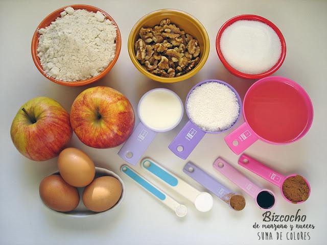 Bizcocho-manzana-nueces-Ingredientes
