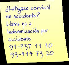 abogados indemnizacion latigazo cervical
