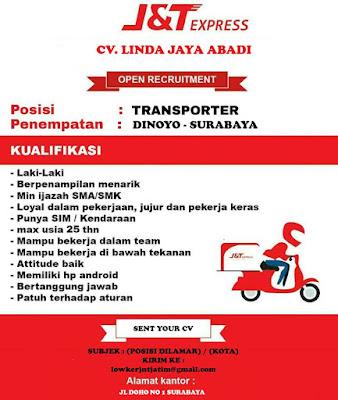 lowongan kerja transporter J&T express