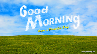 Morning Greetings with beautiful sky images