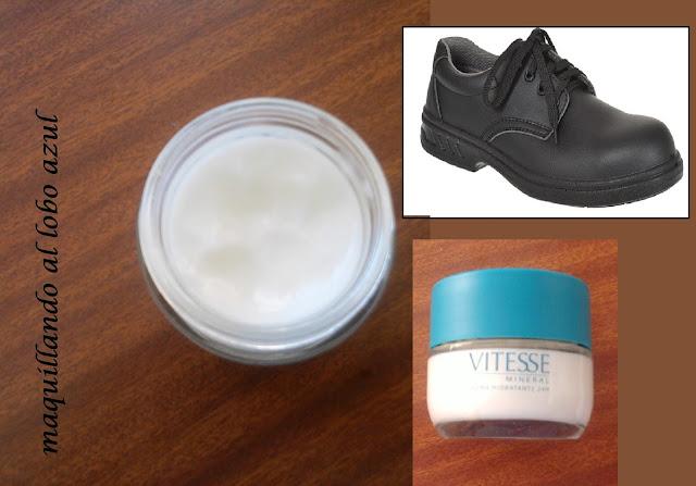 Crema facial para ablandar zapatos de piel