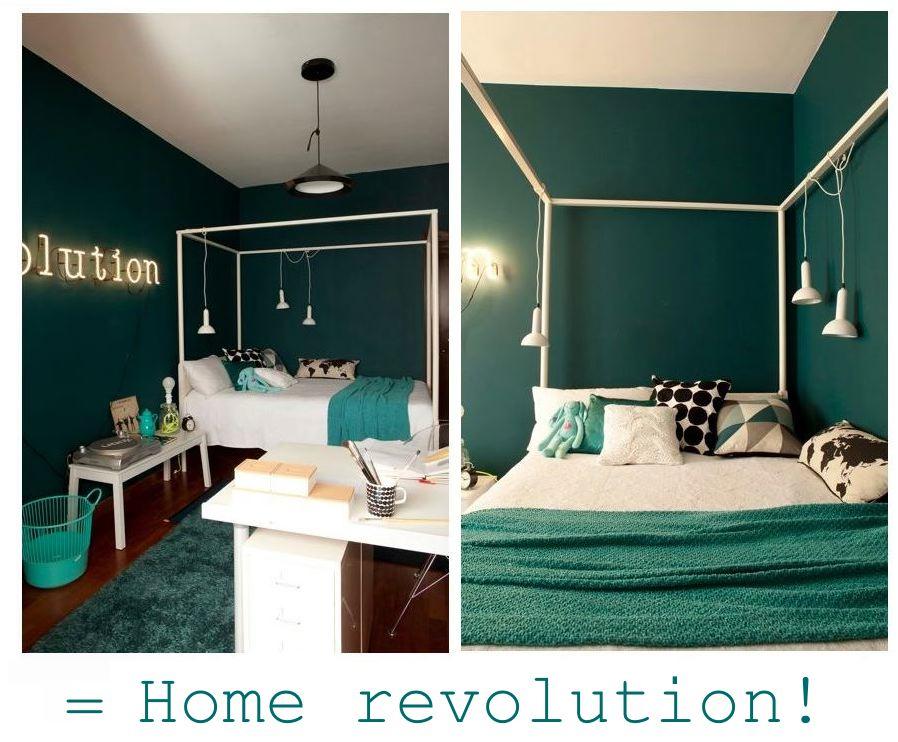 Salotto Verde Petrolio : Pareti salotto verde: parete soggiorno verde acido 2 pareti