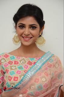 Actress Priyanka Bharadwaj Pictures in Saree at Mister 420 Press Meet  0001.JPG