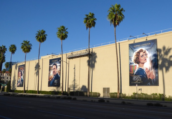 Fantastic Beasts movie billboards WB Studios Burbank