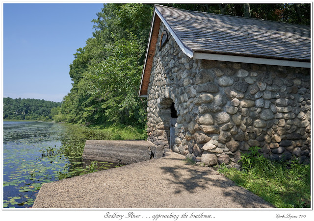 Sudbury River: ... approaching the boathouse...