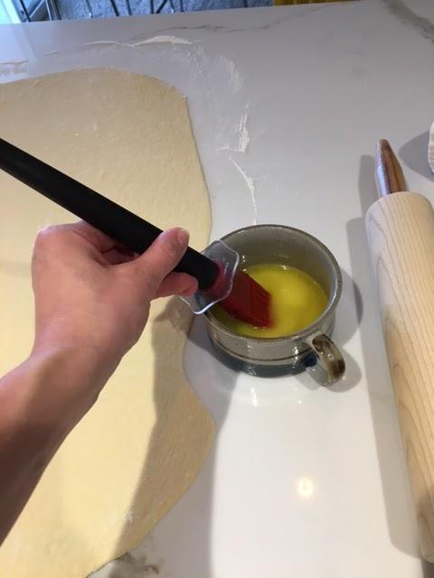 Buttered dough