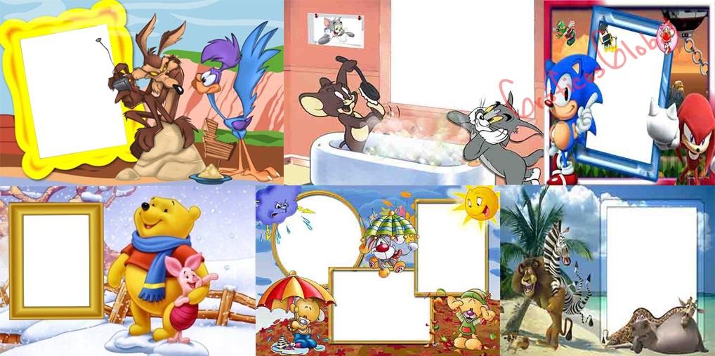 15 Marcos cartoons plantillas psd part03