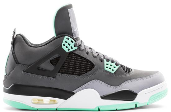 3fce55cf7f5f7d Air Jordan 4 Retro (08 17 2013) 308497-033 Dark Grey Green Glow-Cement Grey- Black  160.00