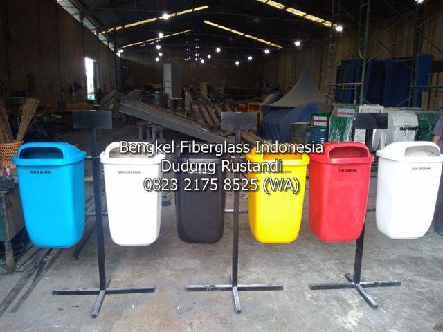 tong sampah fiber 2 pilah