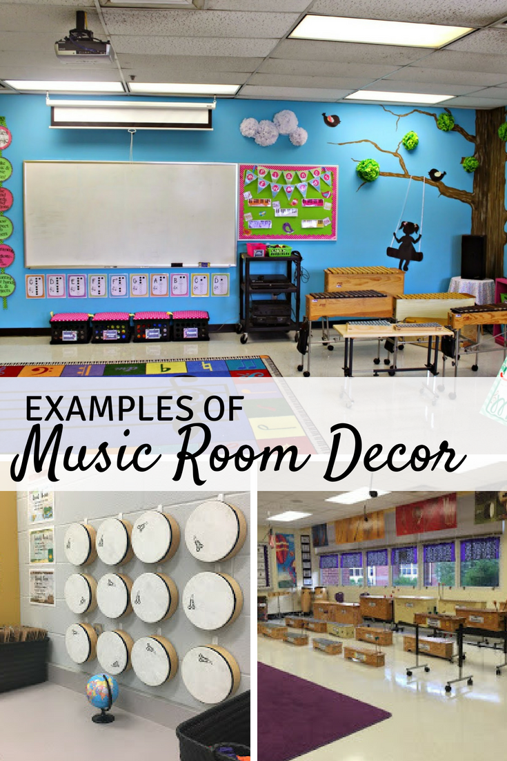 10 Great Examples of Music Classroom Decor | Mrs. Miracle ...
