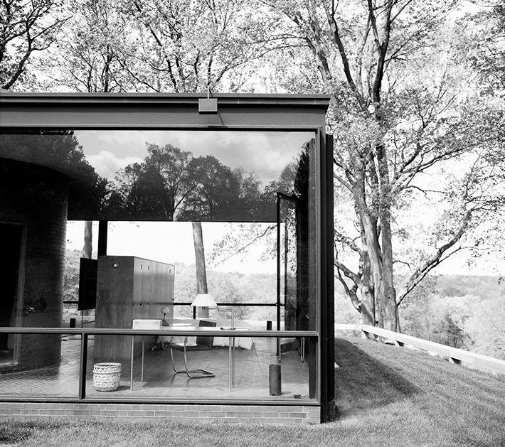 Foto de la Glass House tomada por Anne Leibovitz