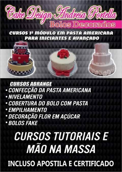 Atenção! Ganhe uma renda extra, Faça já o curso de Bolos decorados, Coke Design Andressa Portella, nos dias 29 e 30 de outubro, em Chapadinha.