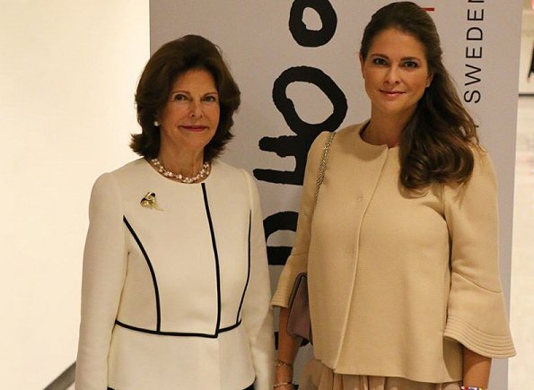 Achieving the Sustainable Development Goals for Children: Collective Actions and Innovative Solutions seminar in NYC. Princess Madeleine wore Dorothee Schumacher coat