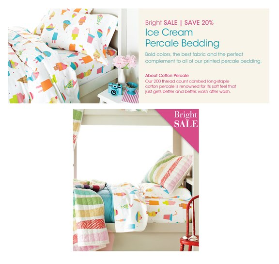 Show And Tell Ice Cream Percale Bedding