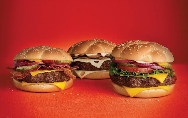 Broodje hamburger achtergrond