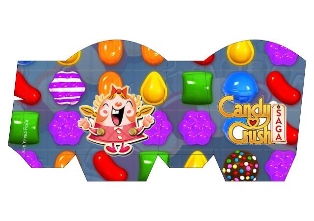 Caja para Imprimir Gratis de Fiesta de Candy Crush.