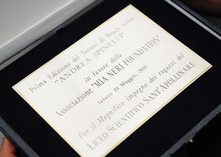 targa premio torneo Mia Neri