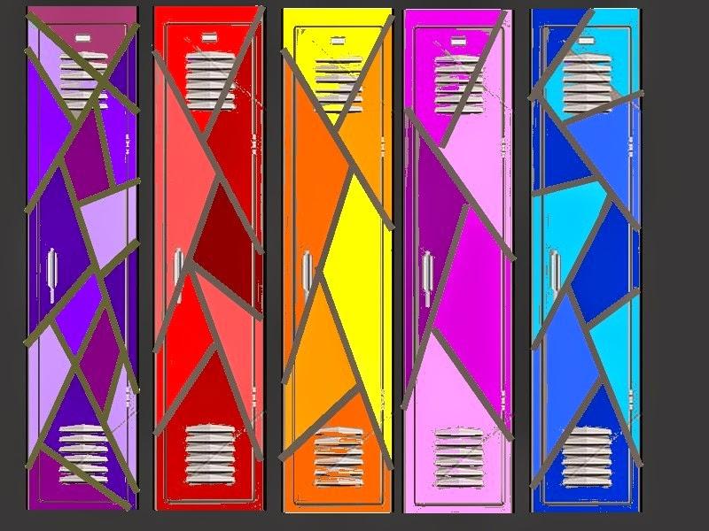 Suite à une petite idée de peinture sur les portes des toilettes d une  école, l idée de peinturer tous les casiers d école m est venue. f90db820662