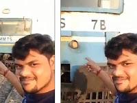 Detik-detik Pria Selfie Dekat Rel Dihantam Kereta Api