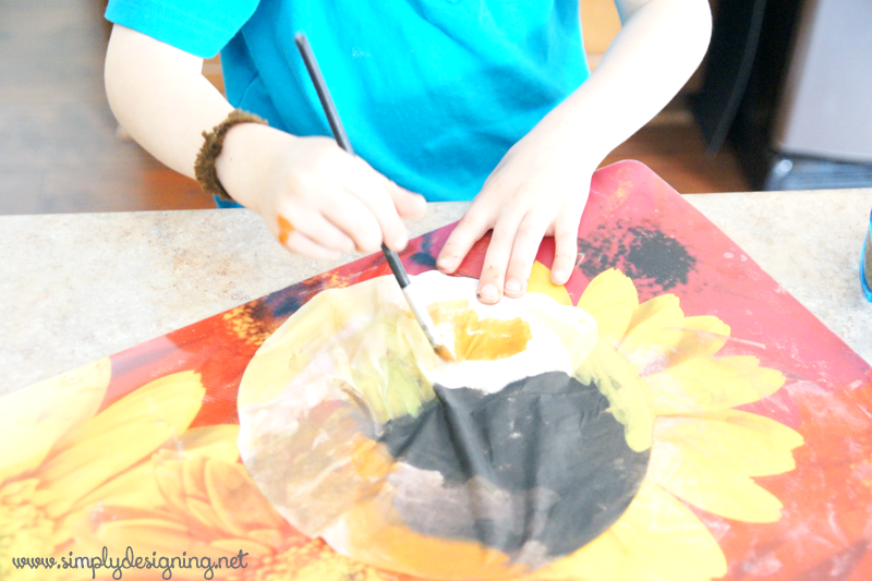 painting coffee filters