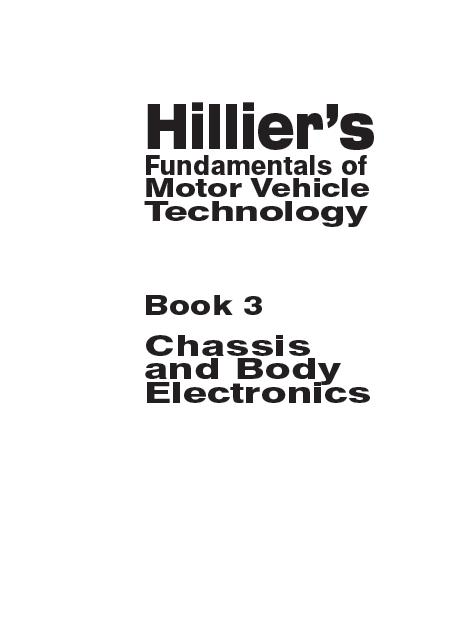 KỸ SƯ Ô TÔ: AUTOMOTIVE BOOKS HILLIERS CHASSIS AND BODY