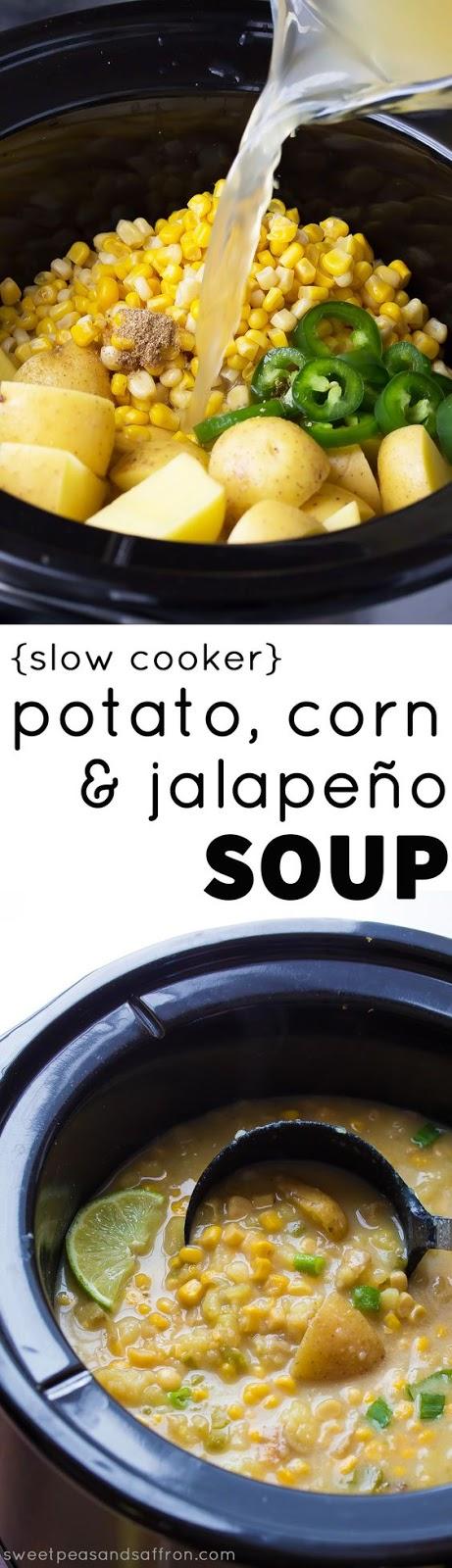 ★★★★☆ 5380 ratings      | Slow Cooker Potato, Corn and Jalapeno Soup #Slow #Cooker #Potato #Corn #Jalapeno #Soup