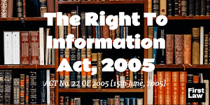 Definition of Information under Right To Information Act, 2005 & Important Case Laws