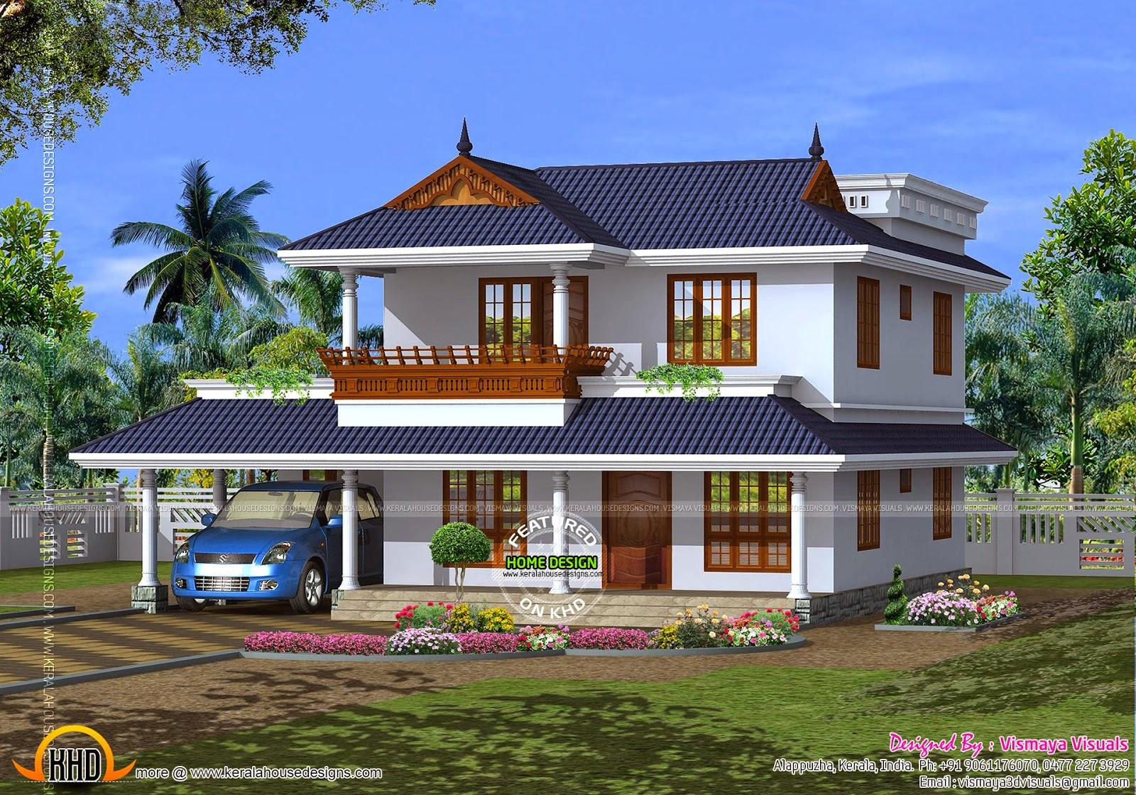 House model Kerala - Kerala home design and floor plans