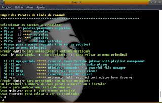 Instalador no modo texto Cli-aptix