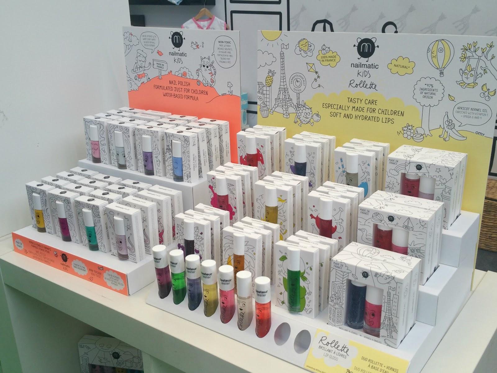 Nailmatic Kids, Nailmatic Kids Rolette, Nail polish varnish and lip gloss made for kids