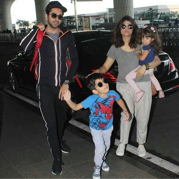 Ayushmann Khurrana with wife and children