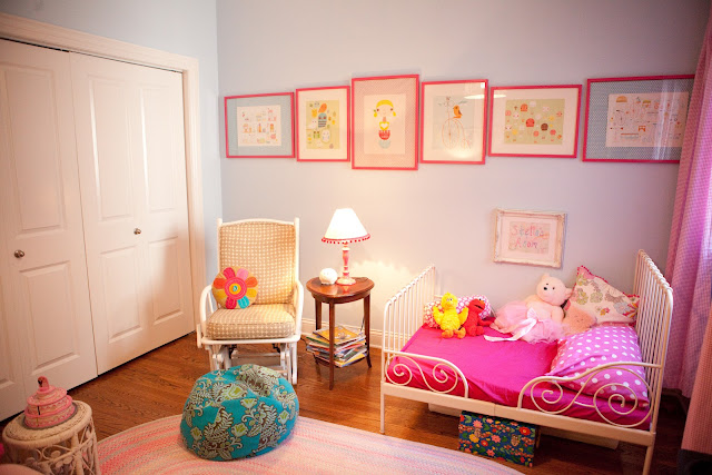 Hot Pink And Blue Bohemian Girls Room