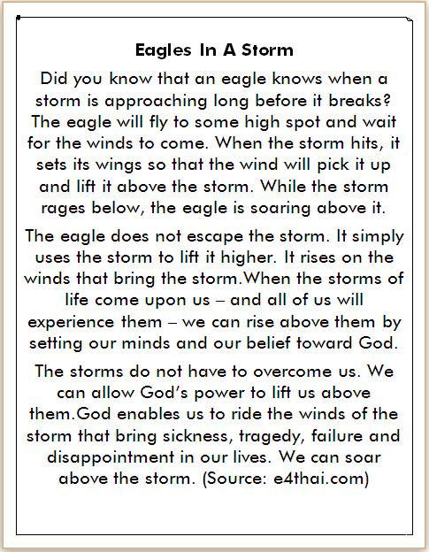Cerita dalam Bahasa Inggris Burung Elang