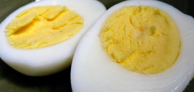 كم سعراً حرارياً في البيضة المسلوقة