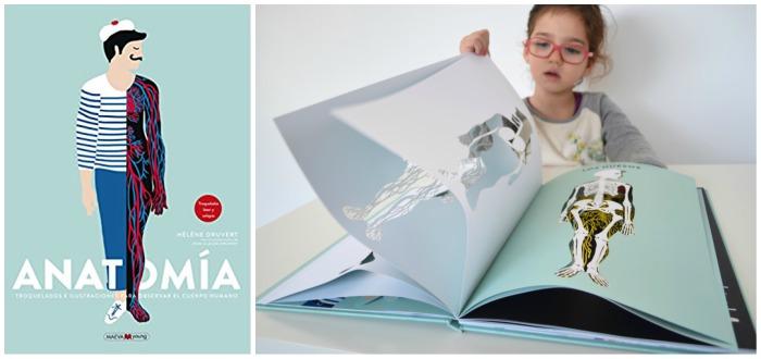 libro infantil conocimientos pestañas, solapas, ventanas, anatomía