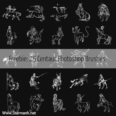 Share 25 Brush Photoshop Về Nhân Mã