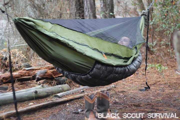 black scout survival warbonnet outdoors yeti underquilt