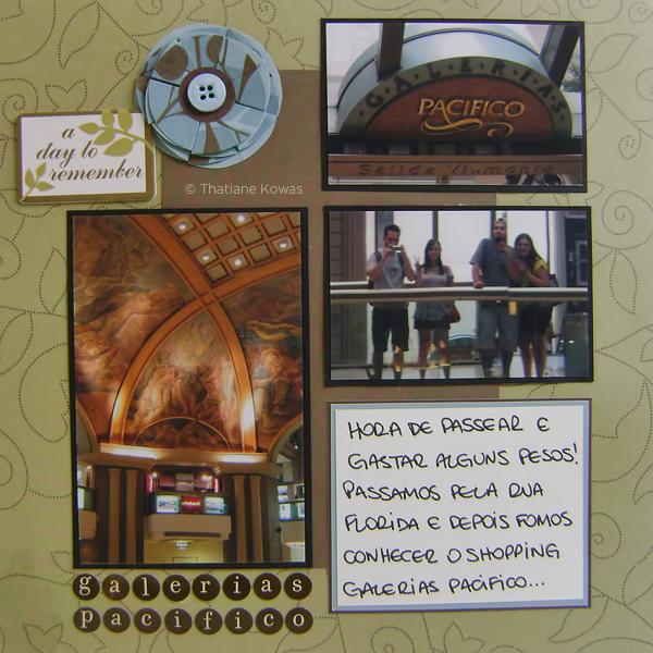 Página álbum Scrapbook Galerias Pacifico