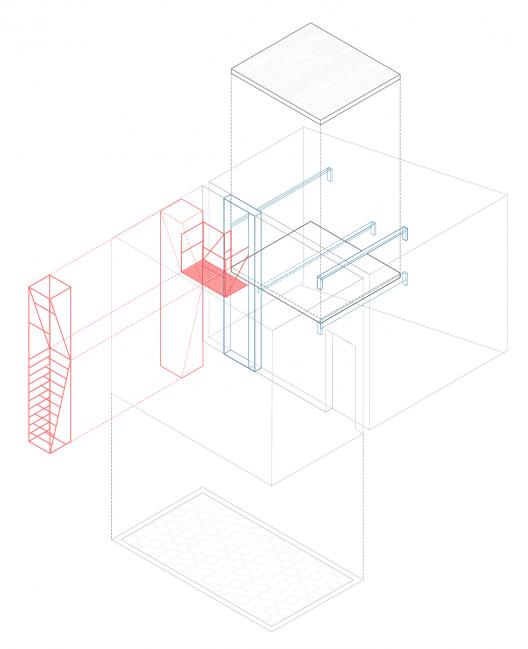 diagram of metal stairs