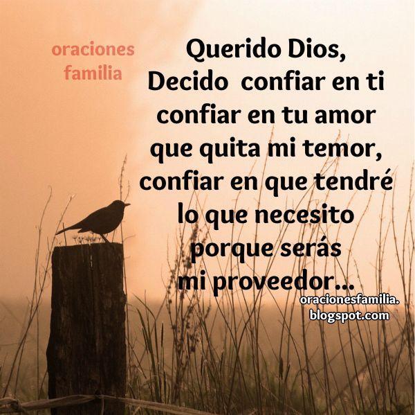 oración corta para iniciar el día, buen día con confianza en Dios, oraciones por mi y por familia para que nos vaya bien. Plegaria corta.