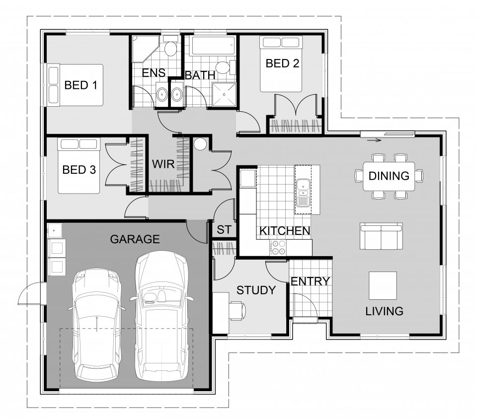 6 modern bungalow house designs and custom home blueprints Master bedroom size m2