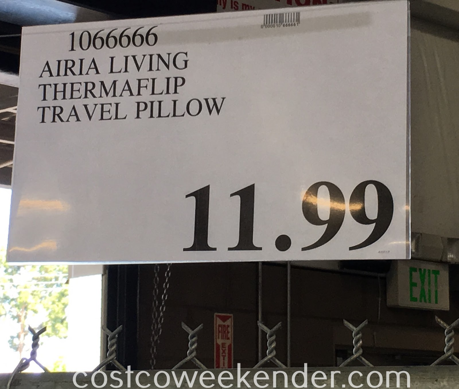 Deal for the Aria Living ThermaFlip Travel Pillow at Costco