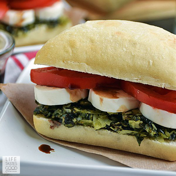 Caprese Sandwich Recipe | by Life Tastes Good