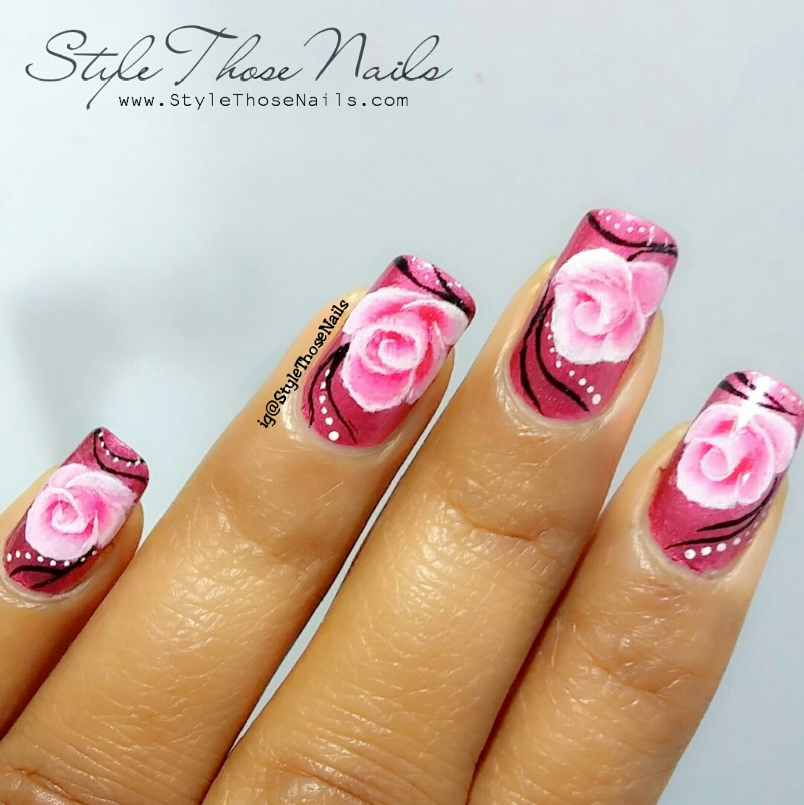 Style Those Nails One Stroke Rose Nailart Using Born Pretty Store