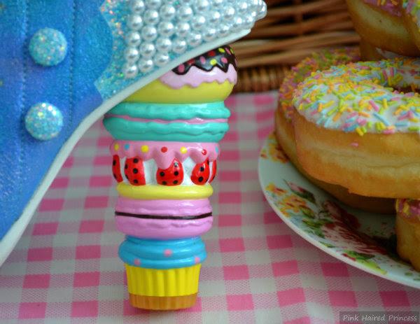 Irregular Choice macaron cake concept heel
