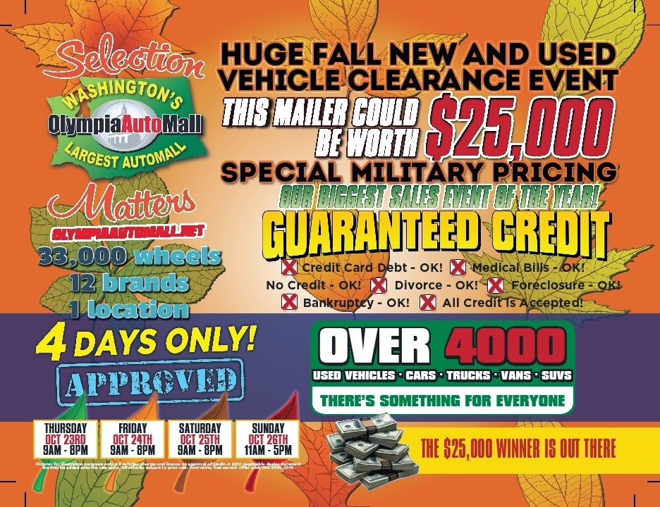 Fall New and Used Car Clearance Event