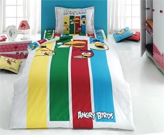 Angry Birds AB-07 Ranforce Tek Kişilik Nevresim Takımı