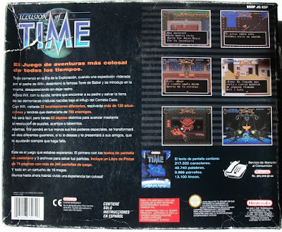 Illusion of Time - Caja package detrás
