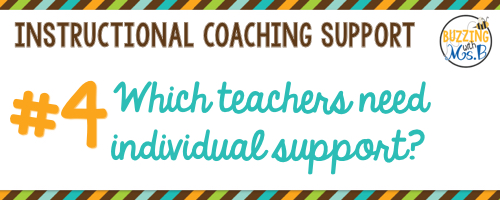 4. Which teachers need individual support?