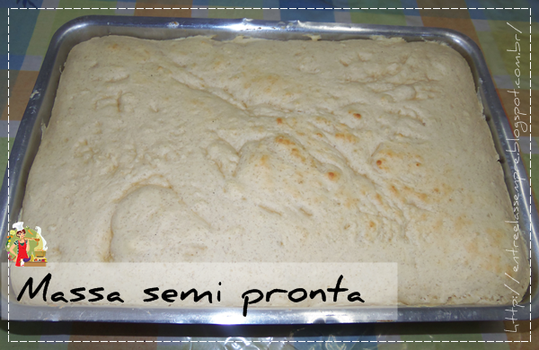 Massa da pizza semi pronta